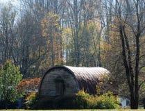 Gammal quonset som förlägga i barack i Maggie Valley, NC Royaltyfria Foton