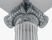 Gammal rättvisa Courthouse Column för tappning Royaltyfri Foto