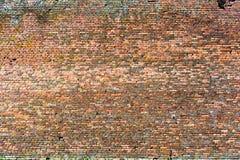 Gammal röd-apelsin tegelstenvägg, bakgrundstextur 11 Royaltyfri Bild