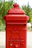 Gammal röd brevlåda. Royaltyfri Fotografi