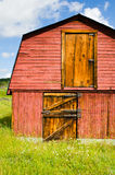 Gammal röd ladugård Royaltyfri Fotografi