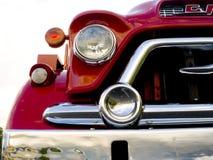 gammal röd lastbil Royaltyfri Fotografi