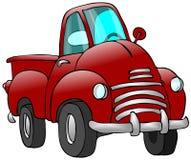 gammal röd lastbil Arkivbild