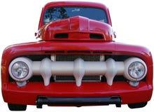 Gammal röd pickup Arkivfoton