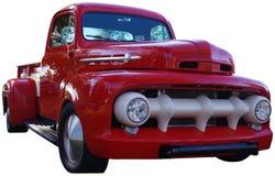 Gammal röd pickup Fotografering för Bildbyråer