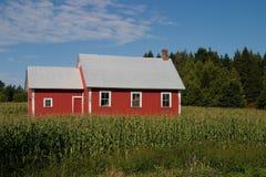 gammal röd skola för hus Arkivbild