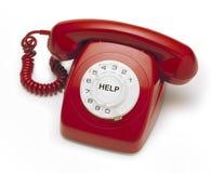gammal röd telefon Fotografering för Bildbyråer
