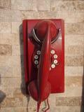 gammal röd telefon Royaltyfri Bild