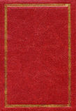 gammal röd textur för dekorativt ramguldläder Royaltyfria Foton