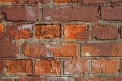 gammal röd texturerad vägg för tegelsten Royaltyfri Fotografi