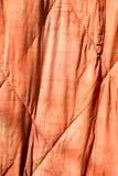 Gammal röd torkduk som bakgrund Royaltyfri Fotografi