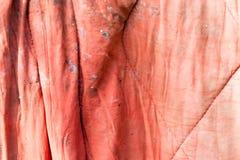 Gammal röd torkduk som bakgrund Arkivbilder