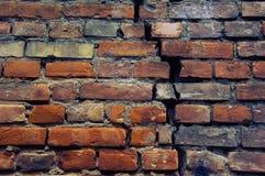 gammal röd vägg för tegelsten Fotografering för Bildbyråer
