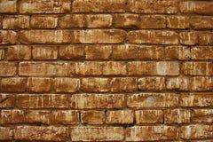 gammal röd vägg för tegelsten Arkivbilder