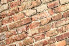 gammal röd vägg för tegelstenar Royaltyfri Bild