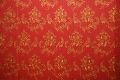 gammal röd wallpaper Royaltyfri Bild