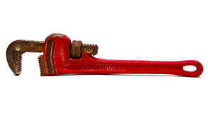 gammal rørskiftnyckel Royaltyfria Foton