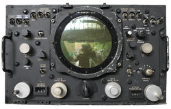 Gammal radar Royaltyfria Foton