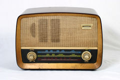 gammal radio royaltyfria bilder