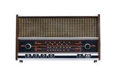 gammal radio isolated1 Arkivbild