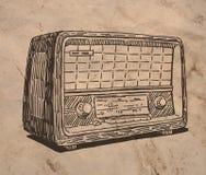 gammal radiotappning stock illustrationer