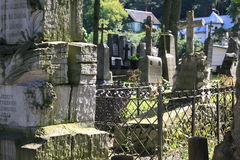 Gammal Rasu kyrkogård i Vilnius Arkivfoto