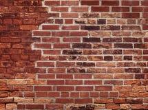 gammal röd vägg för tegelsten Royaltyfri Fotografi