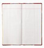 gammal red för räkningsanteckningsbok royaltyfri bild