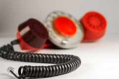 gammal red för telefonlur royaltyfri bild
