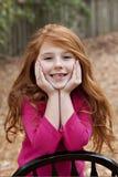 gammal redhead för flicka sju år Royaltyfria Foton