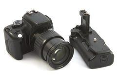 Gammal reflexkamera Arkivfoto
