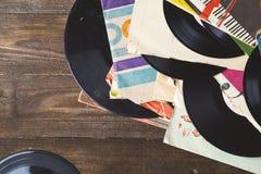gammal registrerad vinyl Arkivbilder
