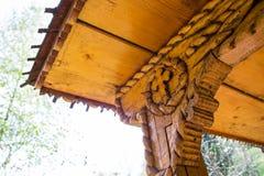 Gammal religiös träskulptur Fotografering för Bildbyråer