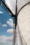 gammal renoverad windmill Arkivbilder