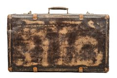 gammal resväska royaltyfri fotografi