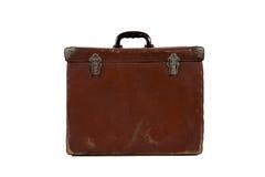 gammal resväskatappning Arkivbilder