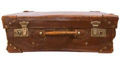 gammal resväska för läder Royaltyfria Foton