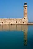 gammal rethymno för crete fyr Royaltyfri Fotografi