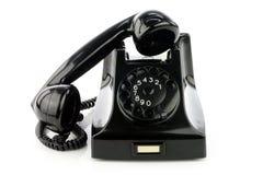 Gammal retro bakelitetelefon royaltyfri fotografi