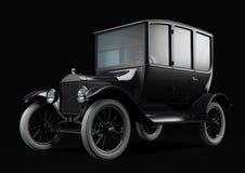 Gammal retro bil på svart Royaltyfria Bilder