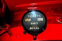 Gammal retro biljetträknare Royaltyfri Bild