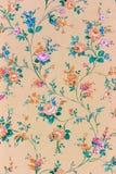 Gammal retro blom- tapet, bakgrund, backgroun Royaltyfria Bilder