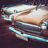 Gammal retro eller för tappningbil främre sida Bearbeta för tappningeffekt Royaltyfri Foto