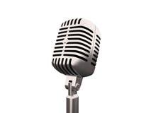 Gammal retro mikrofon Arkivfoto