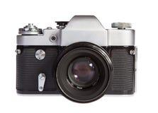 Gammal retro 35mm filmkamera Royaltyfria Bilder
