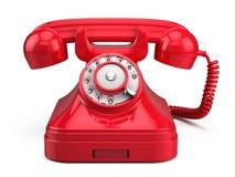 Gammal retro röd telefon vektor illustrationer