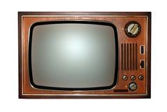 gammal retro televisiontv arkivbilder