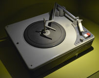 Gammal retro turntable Arkivfoton