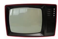 Gammal retro tv som isoleras på vit Arkivfoton