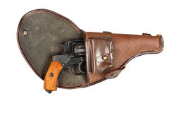 gammal revolver Royaltyfri Foto